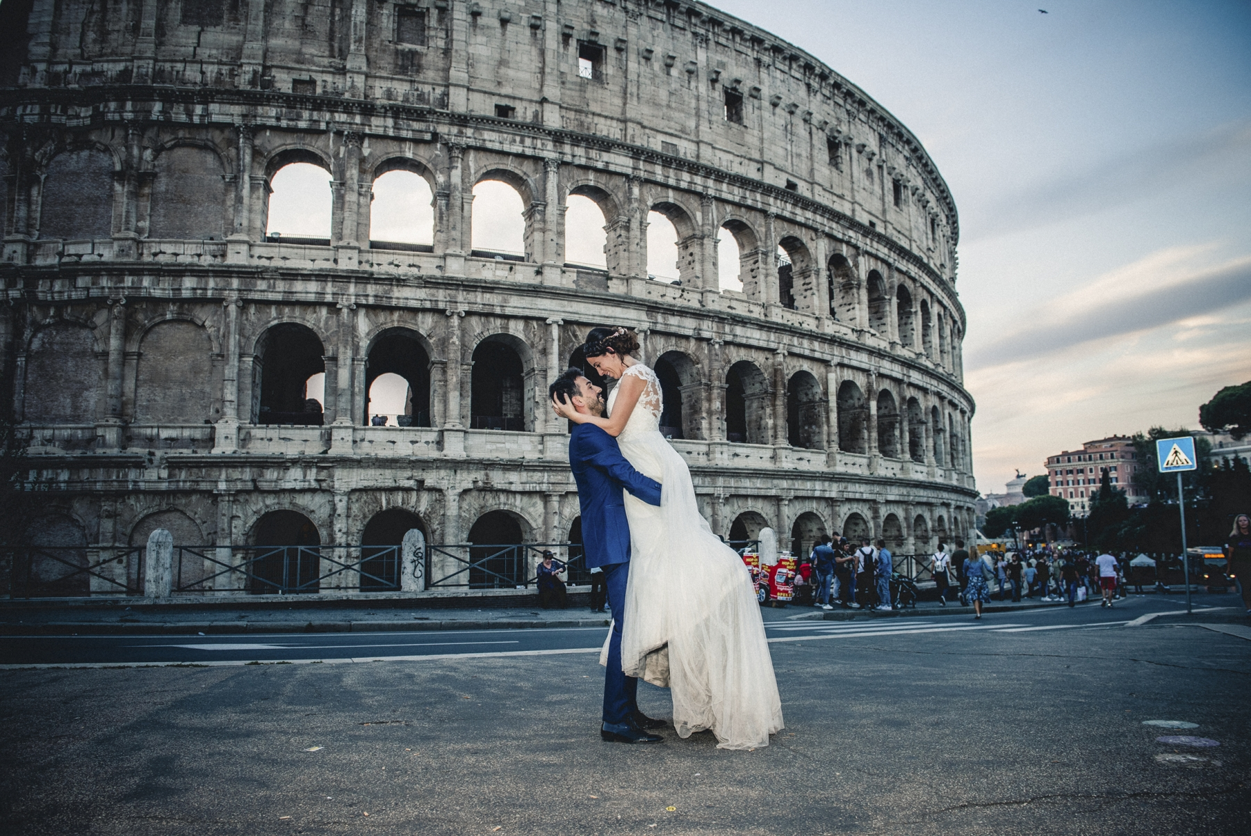 Postboda en Roma, Coliseum Rome